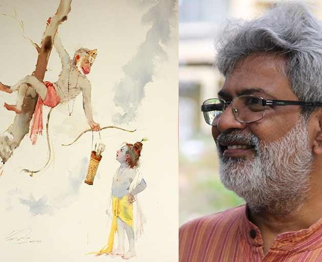 Conceptual-Watercolor-Painting-By-Artist-Vasudeo-Kamath   Pencil Tuts
